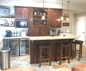 basement remodeling custom wet bar Parker, CO