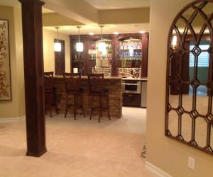 custom wet bar basement finishing Parker, CO