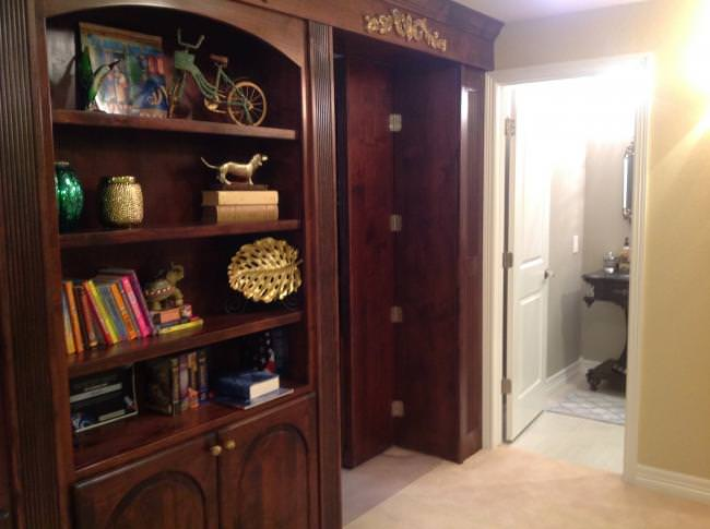 secret bookshelf custom basement remodel Parker, CO