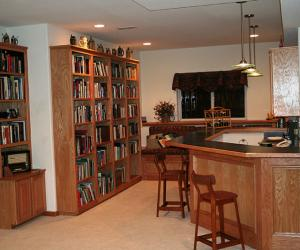 Basement Bar and Library