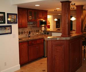 Basement Bar with Low Ceiling