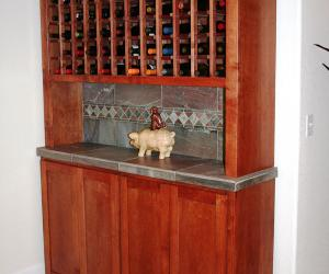 Basement Wine Cabinet