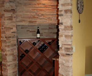 Basement Wine Cellar with Architectural Detail