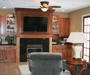Custom Fireplace and Media Area