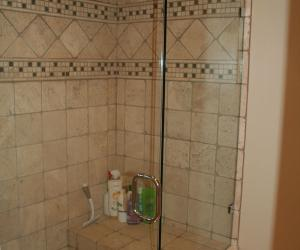 Custom Shower with Bench Seat