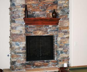 Fireplace with Architectural Details