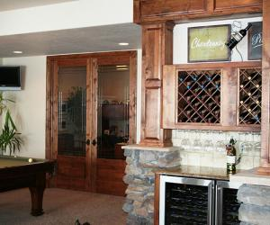 Wine Cabinet Area with Architectural Detail