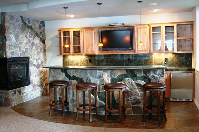 basement bar stone. Basement Bar With Stone Features Basement Bar Stone